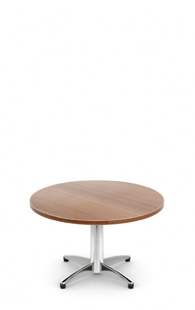 Pledge Unify Round Coffee Table With Four Star Base And Wooden Top 800mm